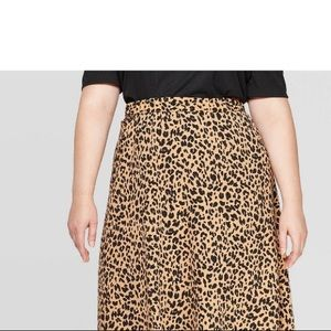 Who What Wear, ankle length cheetah skirt